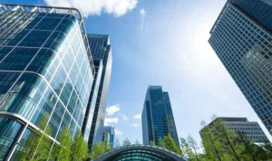 Business buildings in Canary Wharf